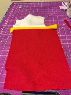 How to sewyour fabric for your Ryder Paw Patrol vest.