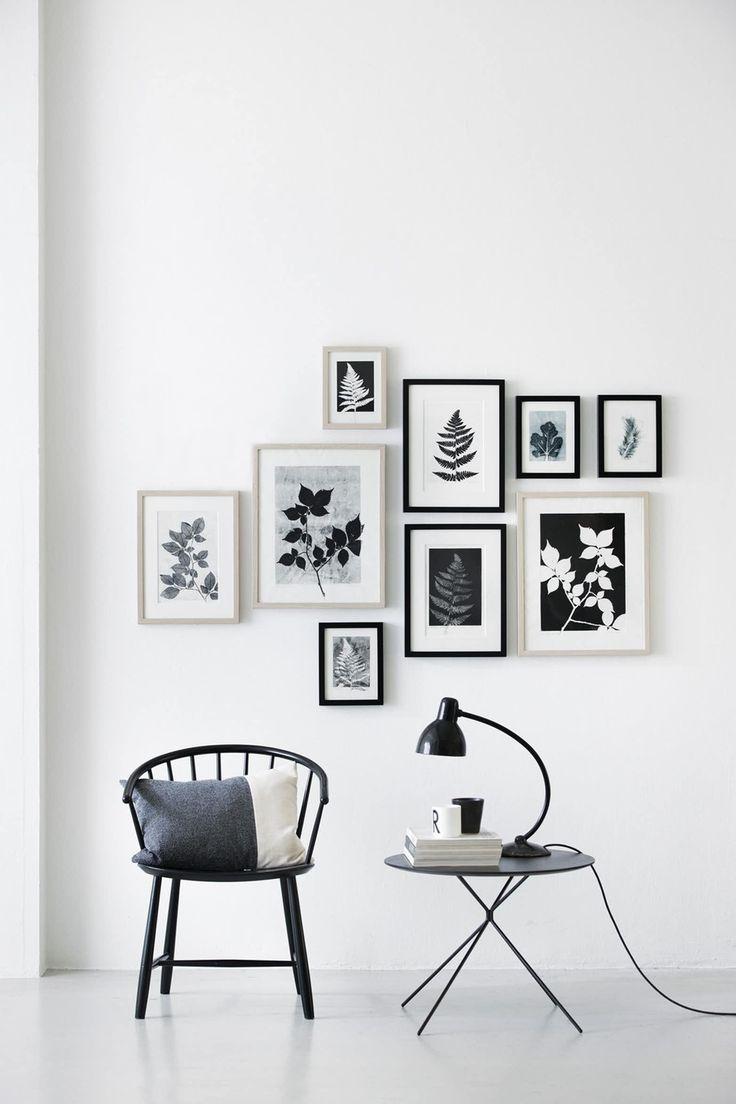 Sort-hvid billedvæg