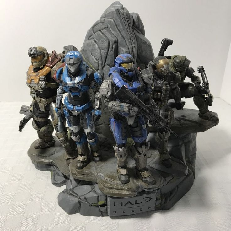 Halo Reach Legendary Edition Noble Team Statue Limited Collectors Figure