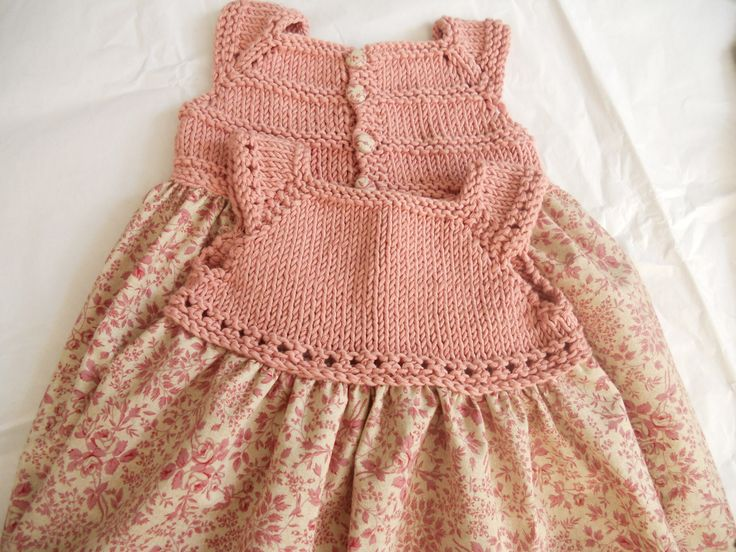 LOVE a mix! Knit the top, and sew the calico skirt.