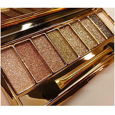 9 Oogschaduwpalet Droog / Glinstering / Mineraal Oogschaduw palet Poeder Normaal Feestelijke make-up / Smokey make-up / Dagelijkse make-up - EUR € 6.85