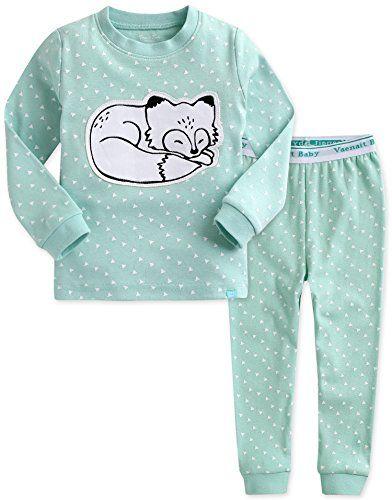 4b2848bb3c6b Vaenait baby Kids Girls 100 Cotton Sleepwear Pajamas 2pcs Set ...