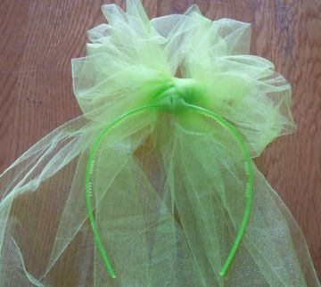 how to make tulle puff hair bows