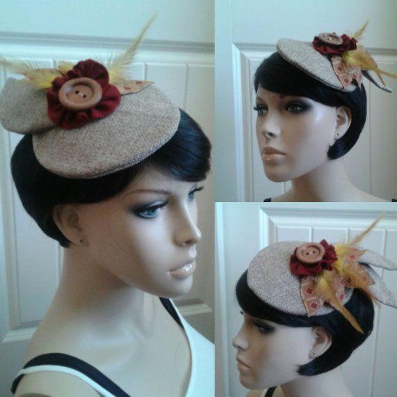 Fascinator hat retro 1950s hat Victorian hat by frillygirlcouture