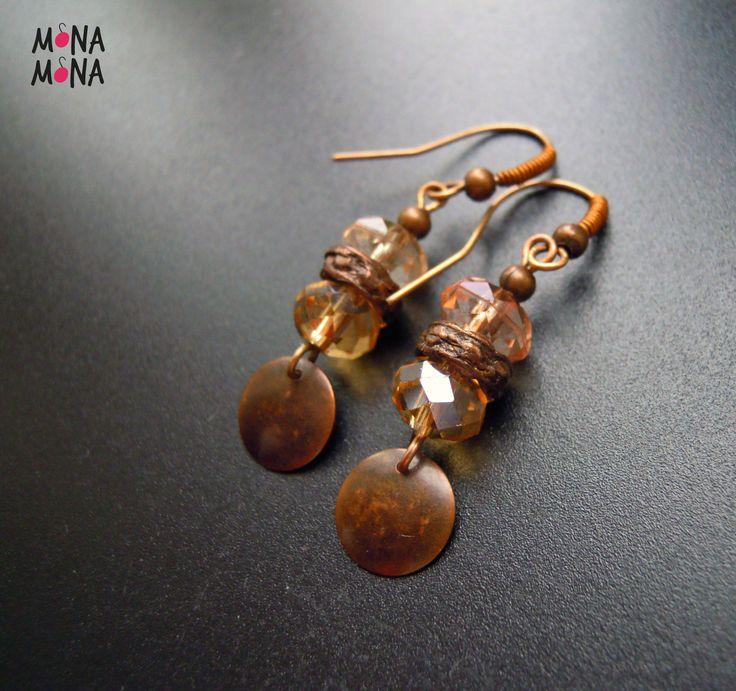 Cupper and czech glass beads