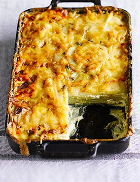 Dauphinoise potatoes  Dauphinoise potatoes are an absolute classic. We love the combination of cream, garlic and cheese smothered on thinly sliced potatoes and it makes any meal feel more special. What's even better, is that you can cook and eat this now, or freeze ahead to have ready when you need it.