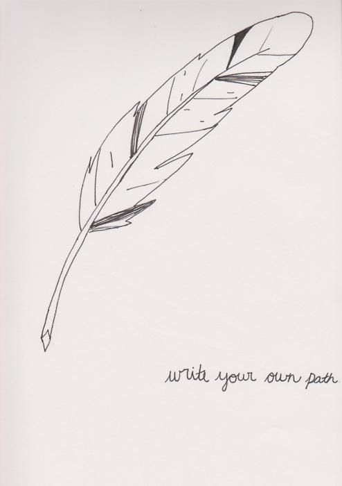 feather quill pen tattoo | Writing With A Feather Quill ...