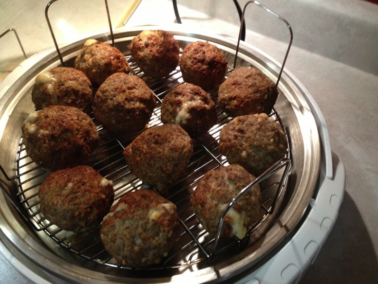 janet d made these yummy stuffed meatballs in her nuwave elite she used ground turkey and lean. Black Bedroom Furniture Sets. Home Design Ideas