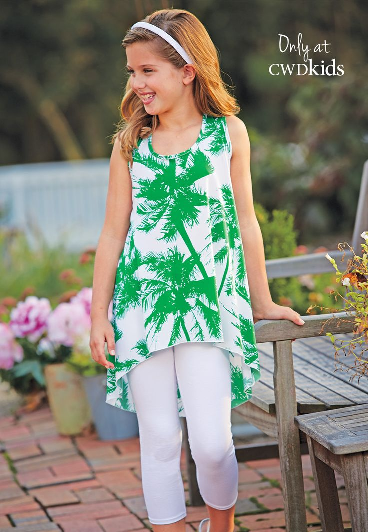 From CWDkids: Palm Tree High-Low Tunic