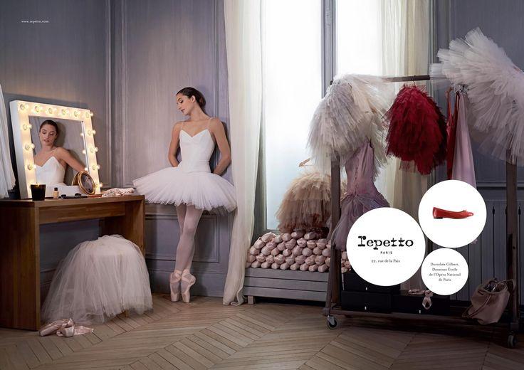 Fière de vous présenter la nouvelle campagne publicitaire de Repetto avec Mademoiselle Dorothée Gilbert, Danseuse Étoile de l'Opéra National de Paris  Photographe : James Bort
