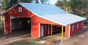 Pole barn shallow slope roof for the home pinterest for Pole barn roof pitch