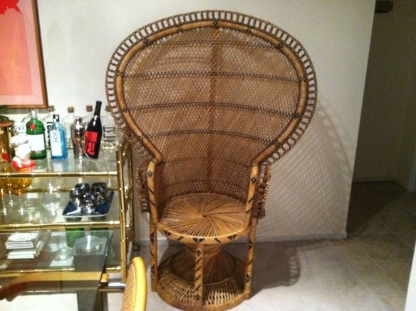 Large 1970's Vintage Wicker Peacock Fan Chair - 18 Best Antique Wicker Furniture Images On Pinterest Peacocks