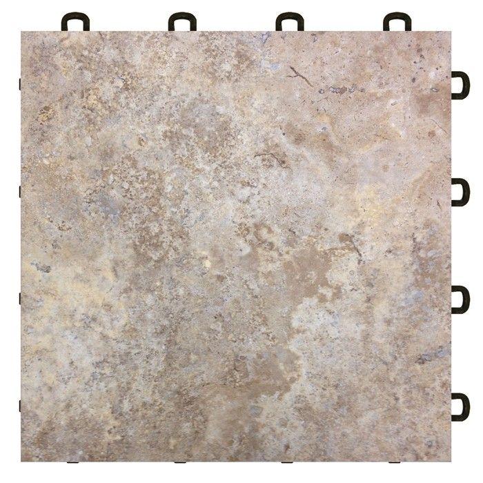 Interlocking Basement Floor Tiles - Sienna Sandstone (flooring)