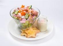 星のコブサラダとエッグスラット