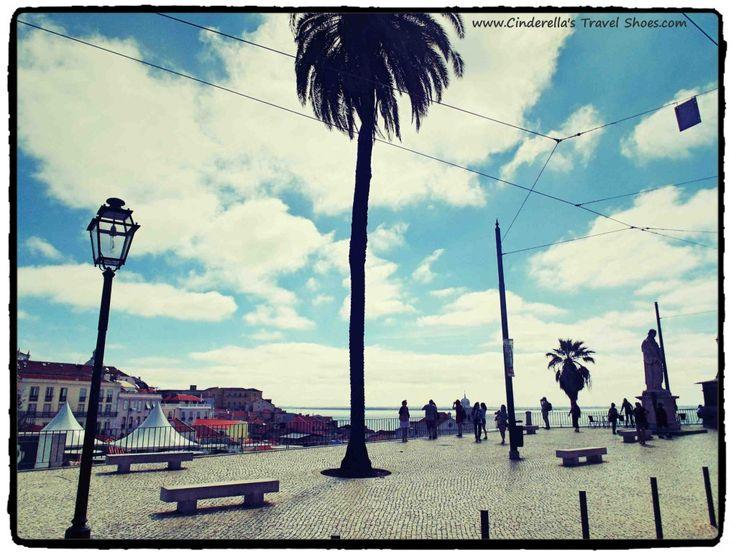 The promenade in Lisbon