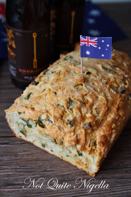 No Knead Cheese & Onion Beer Bread by Not Quite Nigella