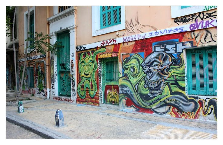 Grafitti - Exarchea, Athens. Exarchea is one of the more liberal-minded and radical areas of Athens.
