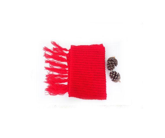 Hand knit red shawl  Lace knit shawl Knit shawl Knit by GuruMIme