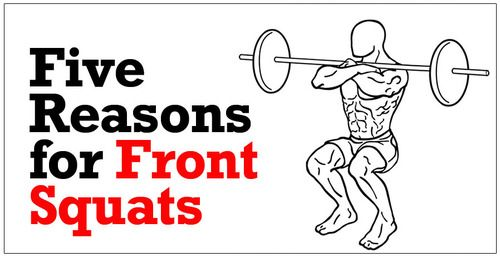 For a stronger core:  Because you're holding the weight in front of your body, and you must remain upright your entire core gets a great workout trying to stabilize the weight and keep you upright. If you find you're leaning forward a lot when you back squat, you'll quickly get stronger and fix this problem if you switch to front squats for a while