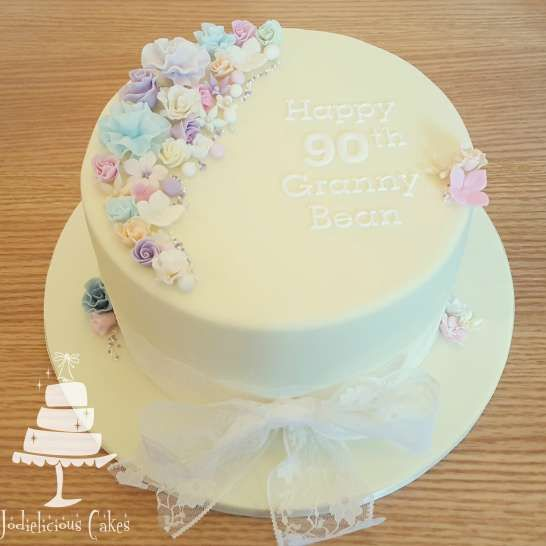 90th Birthday cake | Pretty Witty Cakes