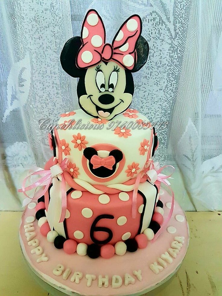 Butterscotch bottom tier...fresh cream mixed fruit top tier....mini mouse themed cake !!