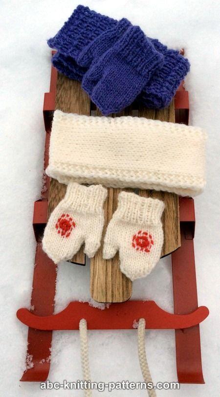 Knitting Pattern For American Girl Doll Mittens : 127 best images about American Girl Doll Free Knitting Patterns on Pinterest ...