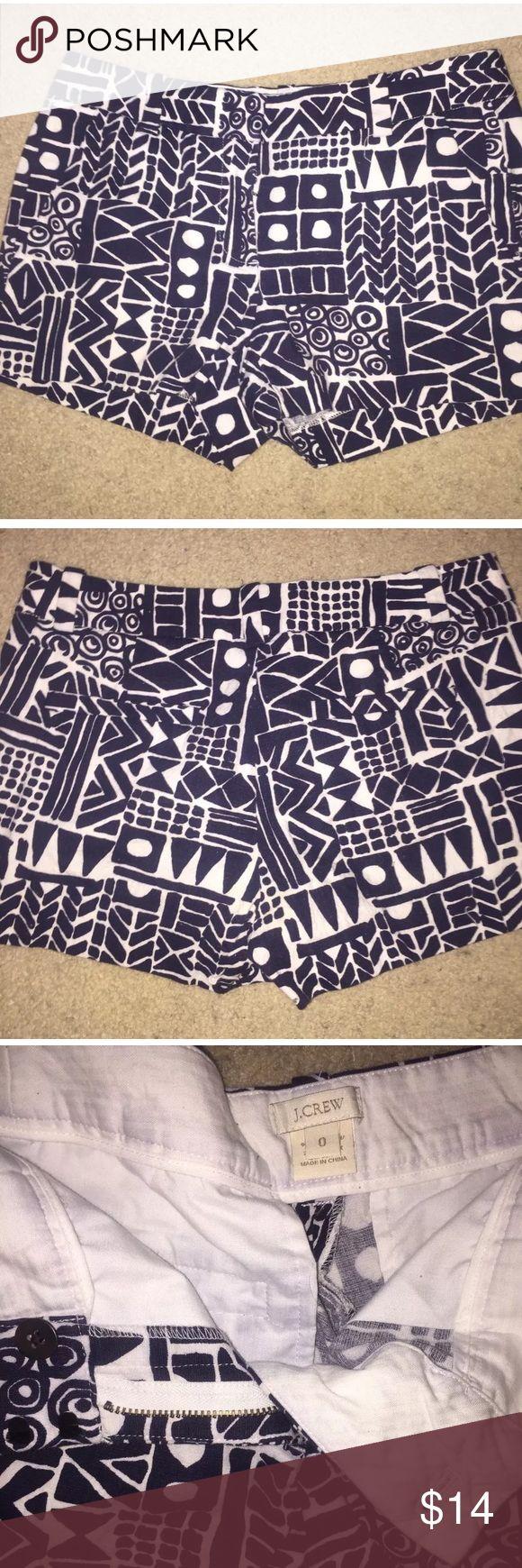 J Crew women's Aztec 3in Chino Short Good condition! Size 0 limited edition Chino short . J. Crew Shorts Jean Shorts