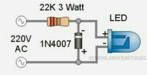 220 volt op LED