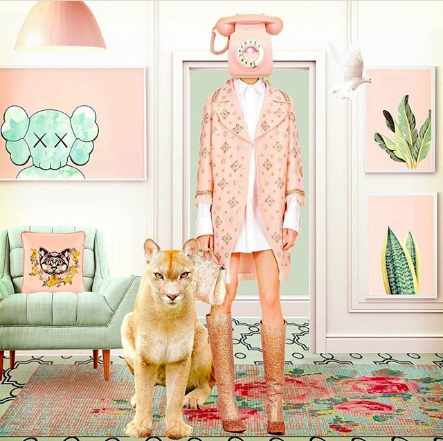 Cruisin' call girl... We are  obsessed with the uber talented @lajaxx 's spin on our #Cruise2018 #embellished  #beaded #pink #coat ! #andrewgn #comingsoon