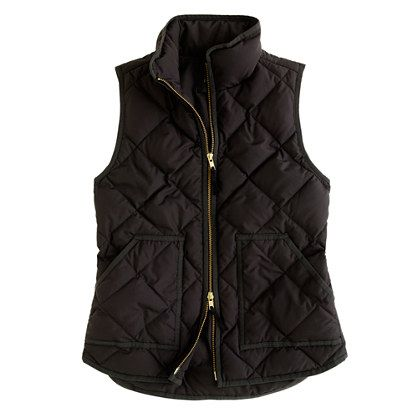 Excursion quilted vest: List Fashion, Fashion Style, J Crew, Cute Outfits, Jcrew Vest Black, Jcrew Excursion, Puffer Vest, Christmas List