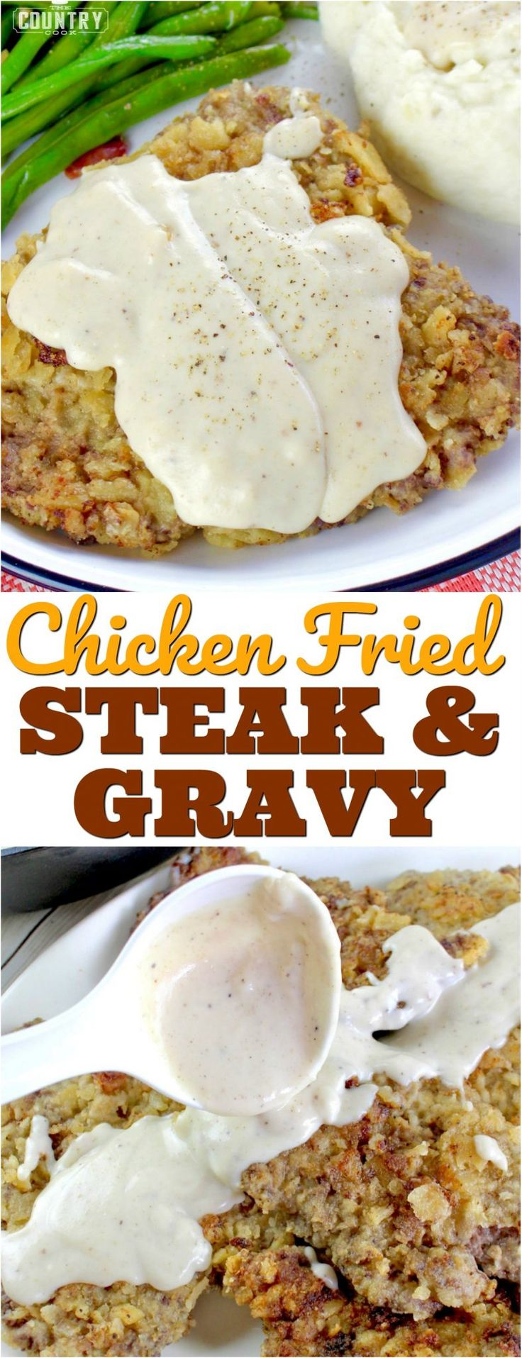 Chicken Fried Steaks with Sawmill Gravy recipe from The Country Cook