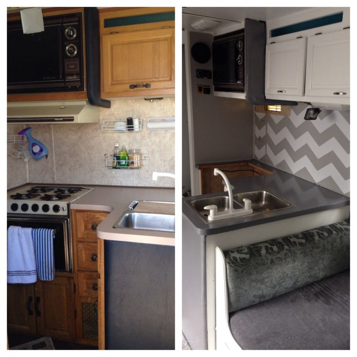 Motorhome Remodel Glamper Before And After Camper