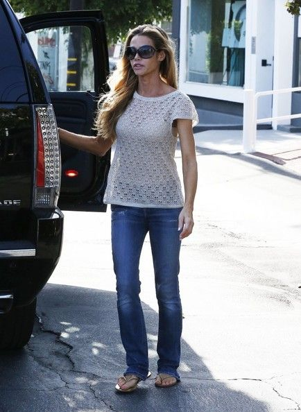 Twisted' actress Denise Richards takes her daughters Sam and Lola shopping at Fred Segal in West Hollywood, California on May 5, 2014.