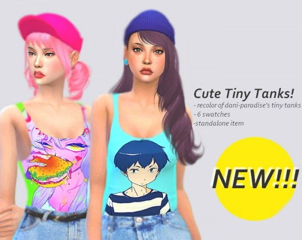 Sulsul Sims: Cute tiny tanks • Sims 4 Downloads
