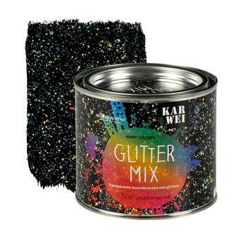 KARWEI Happy Colours muurverf mix glitter 500 ml | Muurverf kleur | Muurverf | Verf & verfbenodigdheden | KARWEI
