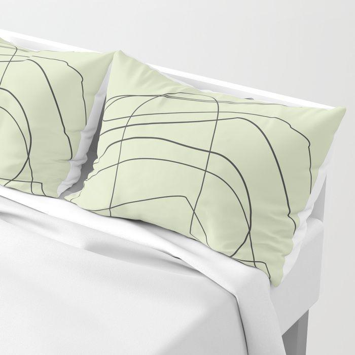Abstract Design Pillow Sham STANDARD SET OF 2  Shop here : https://society6.com/product/abstract-lines385089_sham#s6-6855991p61a207v724     #PillowSham #homedecor #homeandlifestyle #home #interior #decor #nordic #Scandinavian #white  #abstract #lines #art #creative #illustration #inspiration #nature #design #society6 #nileshkikuuchise #buyart #artforsell
