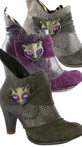 Whimsical cat, Irregular Choice boots. Every lady (especially a cat lady) deserves a pair of these. I'm in love.