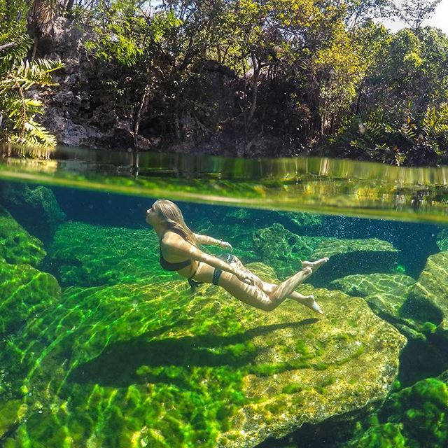 #GoProGirl @theblondeabroad dives into @gopromx from #RiveraMaya in #Mexico. She's sharing her favorite #GoPro shots from her travels south of the border. Tune into @gopromx for an awesome giveaway!