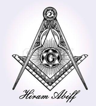 tatouage religieux: Emblème franc-maçonnerie, maçonnique boussole carré symbole Dieu. Élément de l'alchimie à la mode. Design Art de tatouage. Isolated illustration vectorielle.