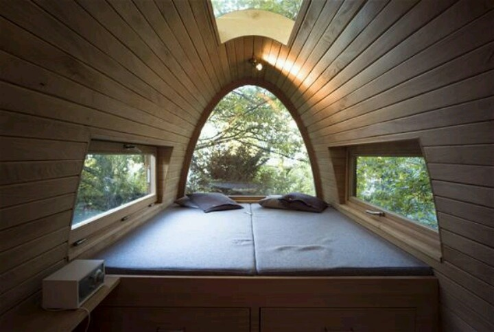 master bedroom of my treehouse