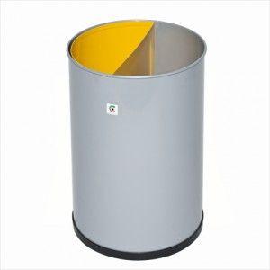 Papelera metálica selectiva de residuos con cubeta extraible para su vaciado. A la venta en: http://www.mueblesaciertos.com/papeleras/976-papelera-metalica-p-25.html