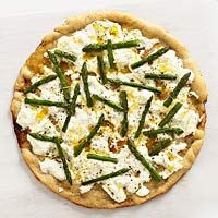 Asparagus and Ricotta Pizza Recipe (we can eat dairy)