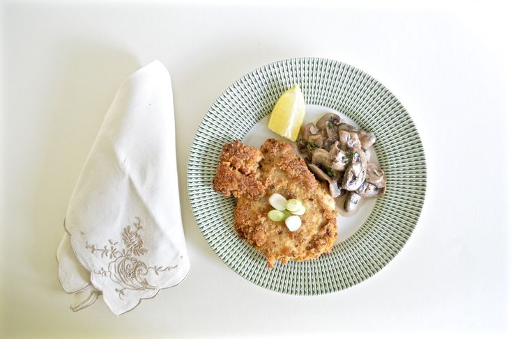 Chicken Schnitzel with Mushroom Sage Sauce