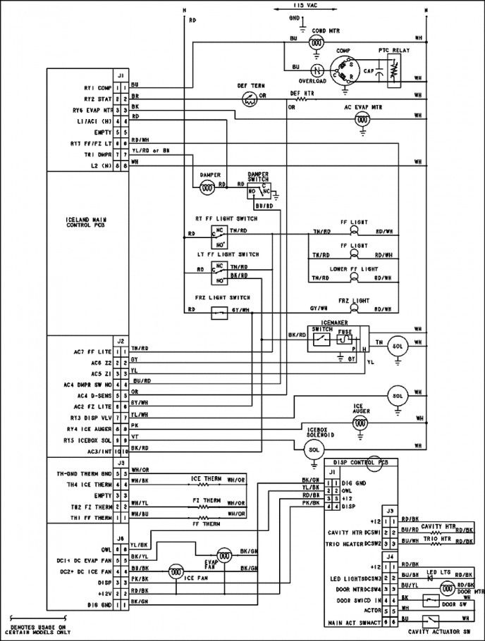 Wiring Diagram For 220 Volt Baseboard Heater,  http://bookingritzcarlton.info/wiring-diagram-for-220-volt-baseboard-heat…  | Ge refrigerator, Circuit diagram, Diagram | Ge Refrigerator Schematic Electrical |  | Pinterest