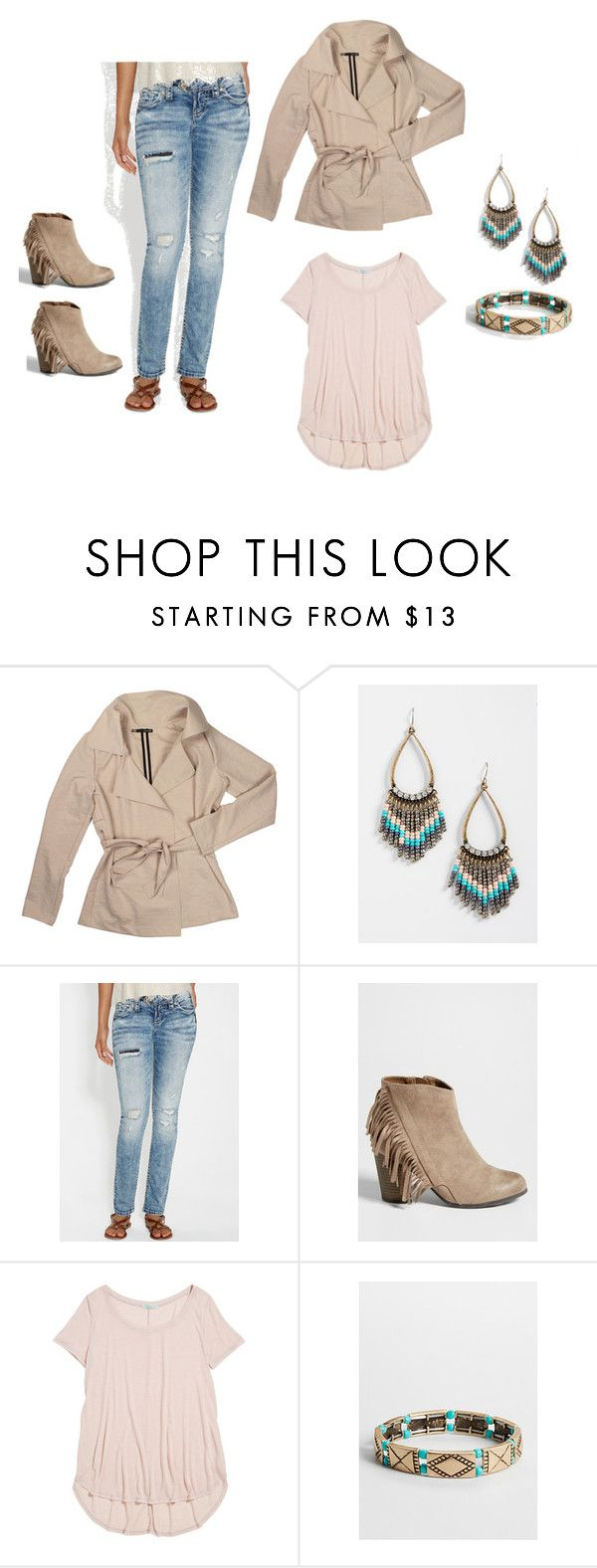 gold tones & taupe by maurices on Polyvore featuring maurices, women's clothing, women's fashion, women, female, woman, misses and juniors