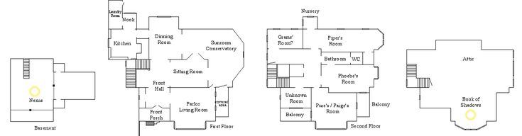 Halliwell manor charmed house yet another slightly for Charmed house floor plan