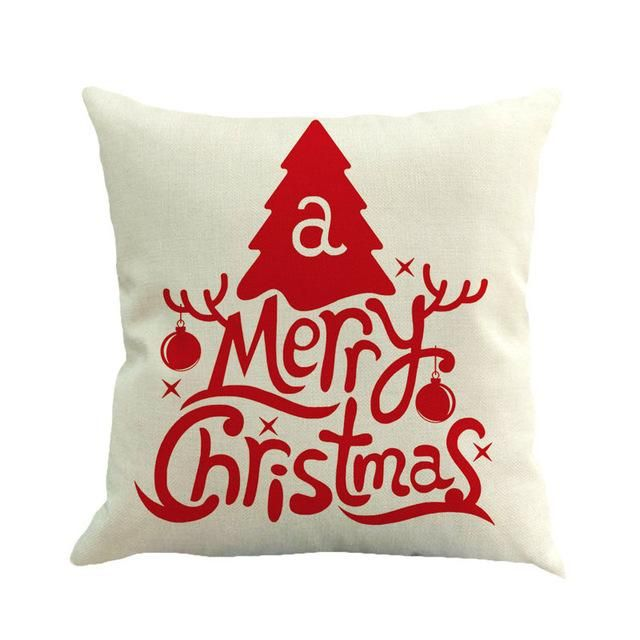 Pillow Xmas Cover Case Christmas Decoration For Home