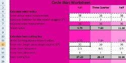 Freebie: Circle skirt measurement calculator   Sewing   CraftGossip.com