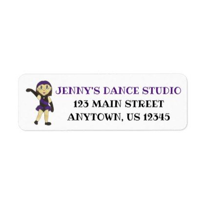 Customized Dance Instructor Jazz Teacher Studio Label - return address labels label diy personalize cyo unique design custom