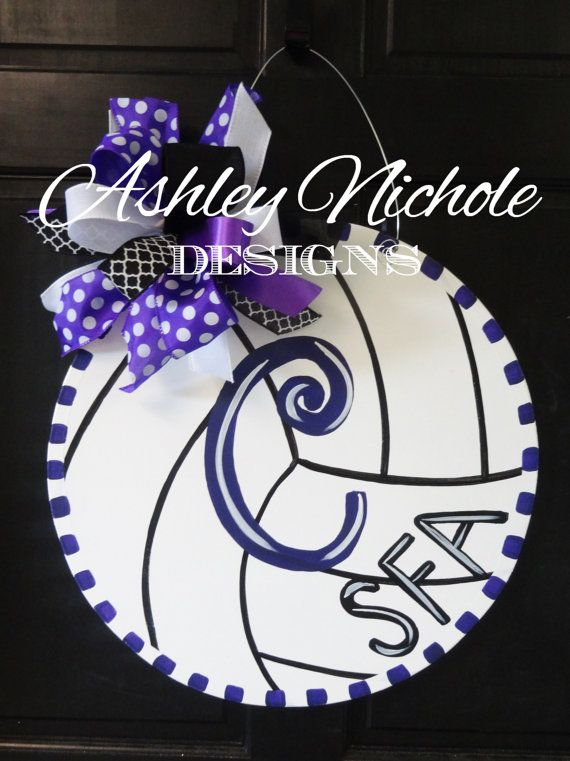 Volleyball Door Hanger Door Decoration by DesignsAshleyNichole